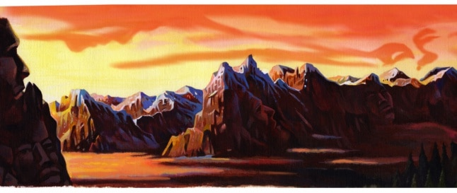 landscape illustrations by fred van deelen  illustrator  arty2