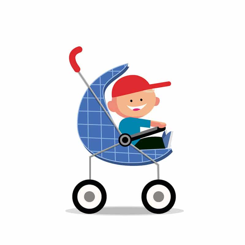 Child in pram