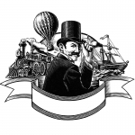 fred-van-deelen-illustrator-Black-and-white-illustration-scraperboard-Phileas-fogg