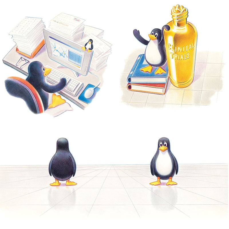 fred-van-deelen-illustrator-colour-pencil-penguin