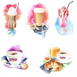 fred-van-deelen-illustrator-painting-watercolour-illustration-icecream-coffee-cafe