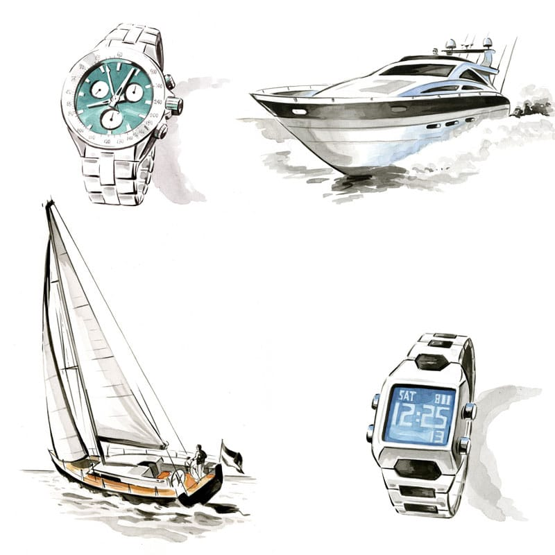 fred-van-deelen-illustrator-painting-watercolour-illustration-watch-boats