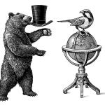 fred-van-deelen-scraperboard-illustration-bear-and-bird