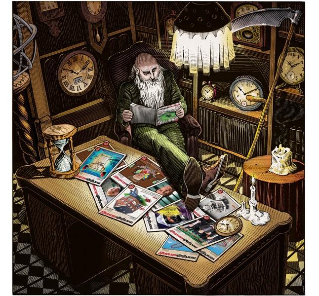 fred-van-deelen-scraperboard-illustration-father-time1