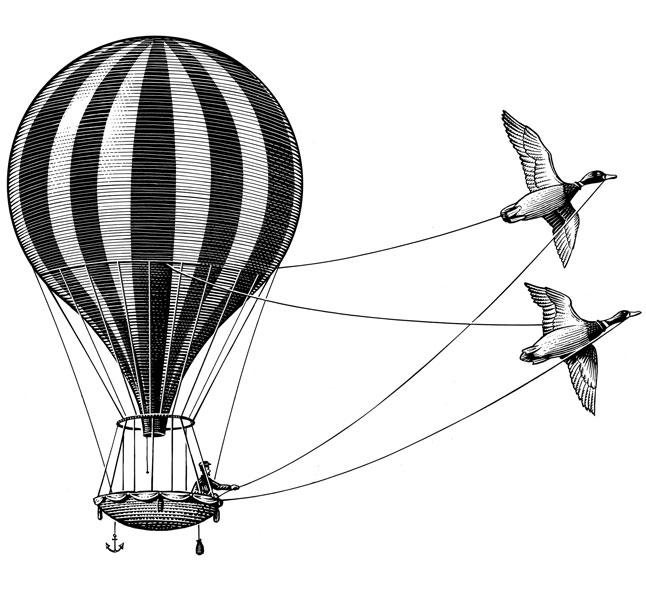 fred-van-deelen-scraperboard-illustration-hot-air-balloon